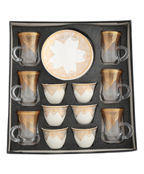 Tea and coffee set 18 pieces 559636