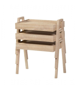 3-Piece Wooden Service Table TP06-40 (Madinah Delivery Only)