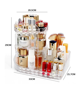 Acrylic accessories and makeup organizer 1-22-3844