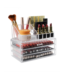 Acrylic accessories and makeup organizer 3 floor 1-17-3844