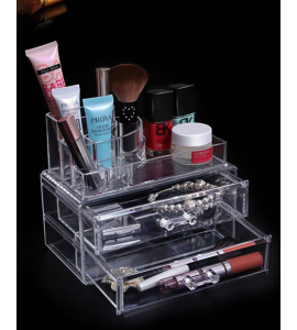 Acrylic accessories and makeup organizer 3 role 1-10-3844