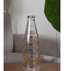 Gilded clear acrylic water bottle 1 liter