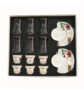 Bialat set for tea and coffee 18 pieces 92071