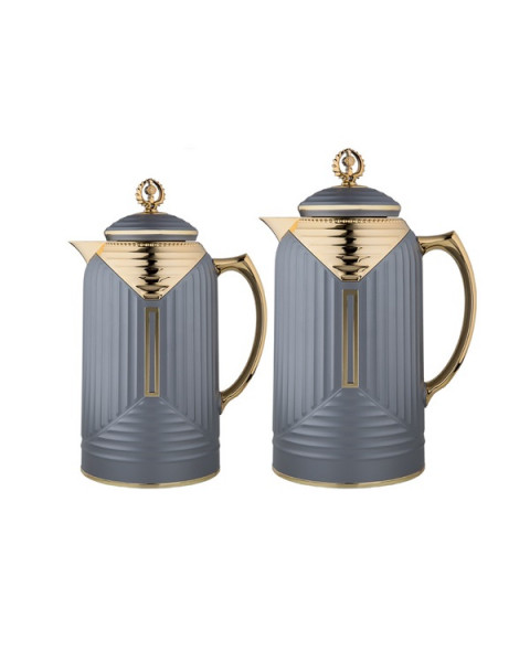 Thermos set, chandelier, 2 tablets, size 1.0 & 0.7 liter, matte gray color No. K195655