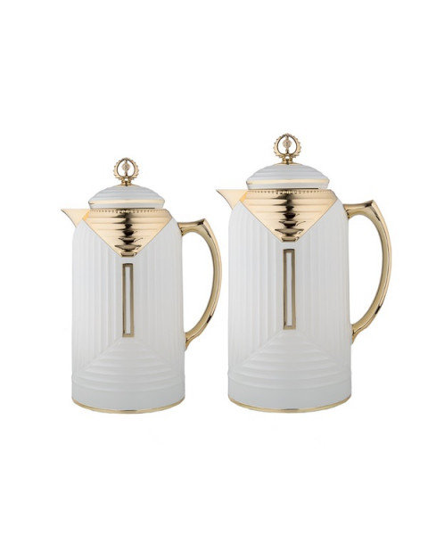 Thermos set, chandelier, 2 tablets, size 1.0 & 0.7 liter, matte pearl color, No. K19565