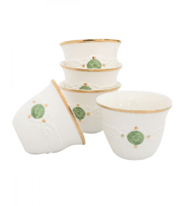 A set of decorated coffee cups 512126