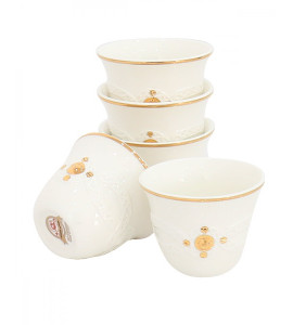 Decorated coffee cup set 2720-004B