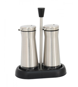 Spice Jar Set 2 Pieces Glass With Stand Y0259997