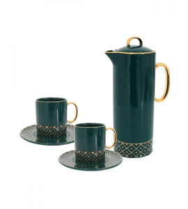 A set of jug with 2 cups, luxurious Y02516400