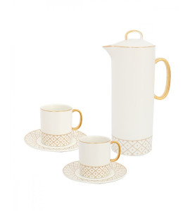 A set of jug with 2 cups, luxurious Y02516402