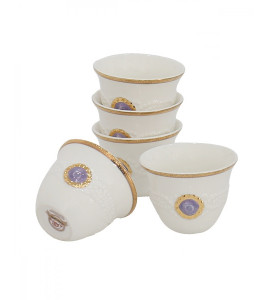 Decorated coffee cup set 2720-007G