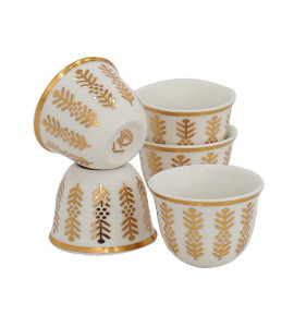 0215222 decorated coffee cup set 12 cups