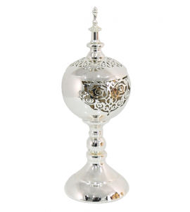 Feather Incense Burner with Silver Cover 777898s