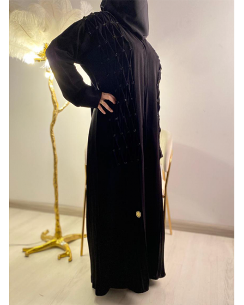 Embroidered abayas for women with scarf 3102-100