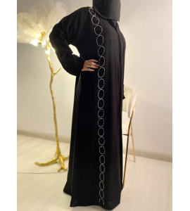 Embroidered Abaya for Women 0751-3854