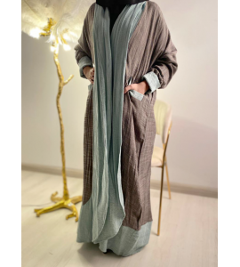 Embroidered abaya for women with a subtraction of 05530-10