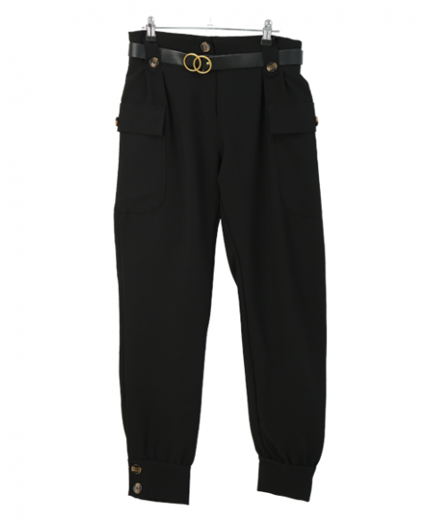 Elegant and soft Italian women trousers f8033
